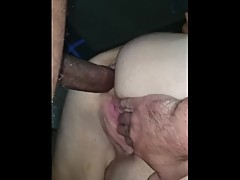 Cuckhold Amy taking his big dick in her ass!
