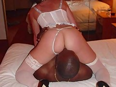 interracial cuckold marriage wedding night--Black Only lifestyle-- chastity