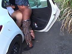 Young Hotwife enjoying with BBC - little outdoor cuckold action