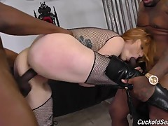 Interracial cuckold with Redhead Lauren Phillips