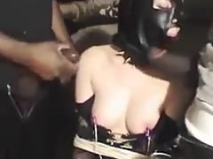 Cuckolded black cock slave used for hubby