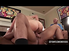Black Bull Impregnates Wife Charlie James While Cuckold Hubby Looks On
