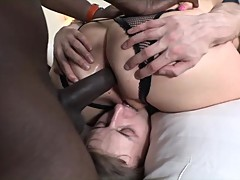 Hot interracial bbc cuckold
