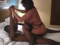 Cuckold milf in black stockings