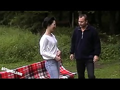 Lisa and her cuckold outdoor threesome