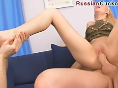 Russian feet cuckold 3