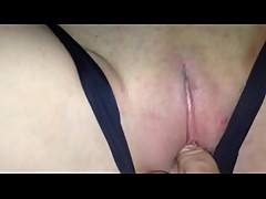 Cuckold creampie wife save cum after date on panties