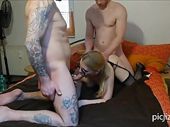 HD Sexy Hotwife Cuckold Threesome With Hubbies Friends