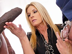 MILF India Summer Sucks And Fucks BBC In Front Of Cuckold