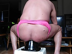ANAL PINK GAY PUSSY DIRTYGARDENBOY HUGE DILDO RIDING