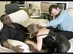 Wife Cuckolds A Big Ebony Cock black ebony cumshots ebony swallow interraci