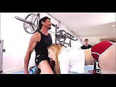 Cute Petite Teen Cheating Wife Alexa Grace Fucked By Personal Trainer In Front Of Cuckold Husband