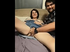 Wife Cuckolding while husband watches