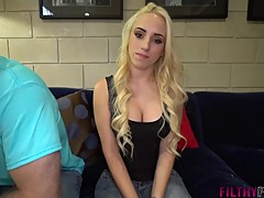 Hot Blonde Wife Aspen Fucks Stud in Front of Cuck Husband