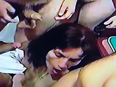 AndreaSex Enjoying the Bukkake while Film Cuckold happy