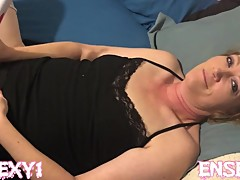 ENSEXY1: Whore Wife Plays with Sex Wand For First Time while Cuck Films