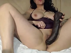 Best cuckold gapes pussy for huge black toy