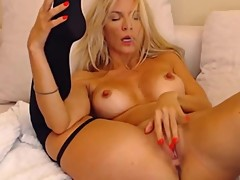 Great blond BBC cuckold Luan with the hardest nipples