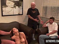Cuckold Hubby Watches Wife Allison Moore Bouncing on a Strangers Cock