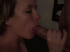 Stranger fucks my wife 1st time- Wife gets Monster cock creampie & facial