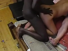 Russian cuckold couple invited black student for fun