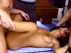 Long Hair Brunette Swinger Threesome