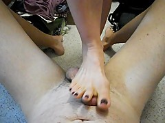 Misshotwife - Painful Footjob for Husband